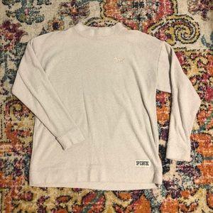 PINK oversized sweatshirt with rose gold dog